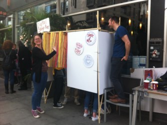 Digital soap box in action