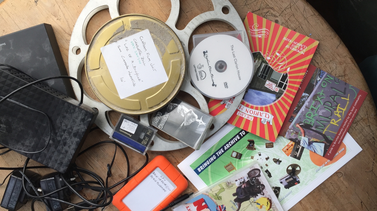 Thanks to players of the National Lottery, Clapham Film Unit is in the process of organising all the heritage we have gathered over the last 12 years onto modern hard drives.